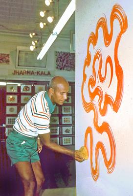 Шри Чинмой рисует